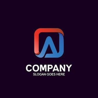 Letter a in square logo design