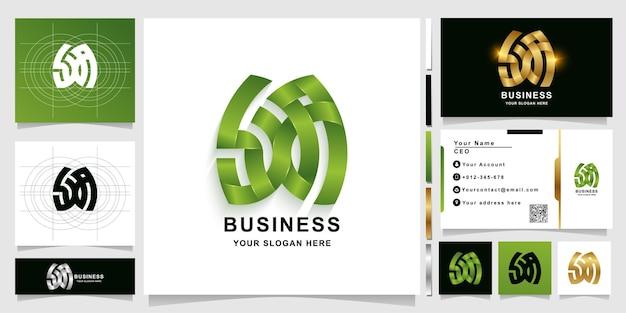 Буква sxa или шаблон логотипа вензеля с дизайном визитной карточки