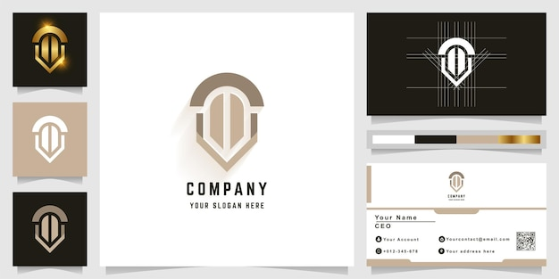 Letter t or like windows monogram logo with business card design