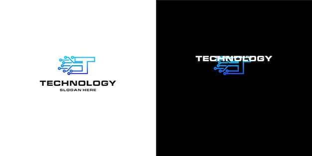 レターtテクノロジーnftのロゴデザイン