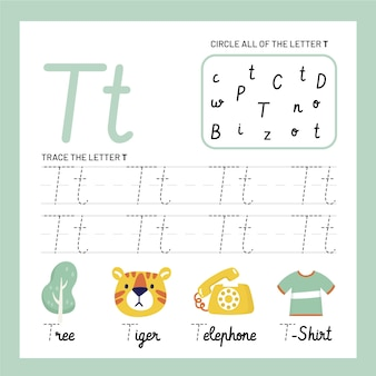 Letter t worksheet template