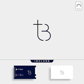 Letter tb bt t b logo design simple vector elegant