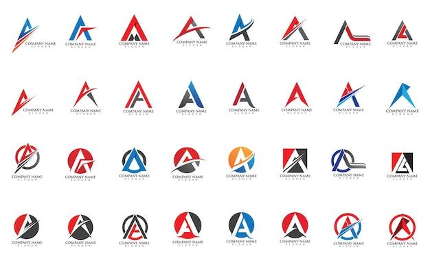 A letter template vector icon illustration design