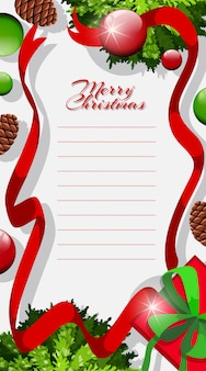 Letter template with christmas theme