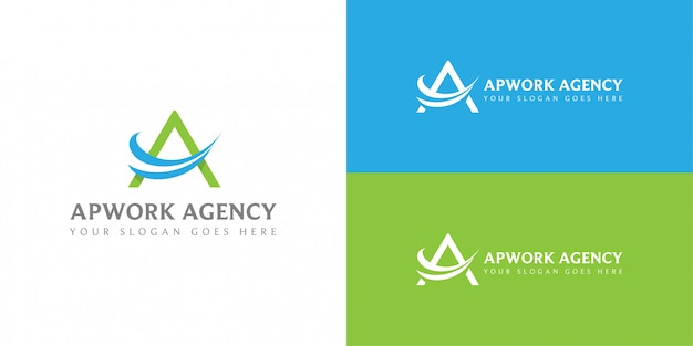 Letter a for travel agency company logo