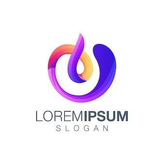 Letter u gradient color logo template