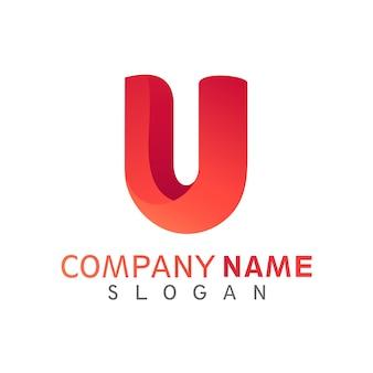 Letter u initial logo template