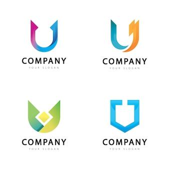 Letter u logo design isolated on white background