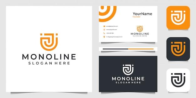 Буква u современный дизайн логотипа illustraction. подходит для бизнеса, компании, современных, технологий, интернета, бренда, рекламы и визитных карточек