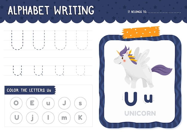 Letter u worksheet template