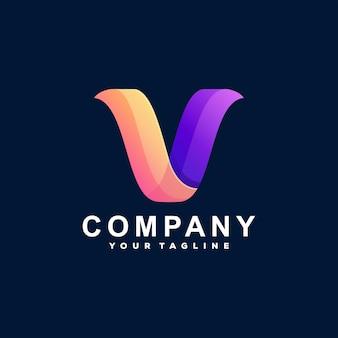 Letter v gradient logo