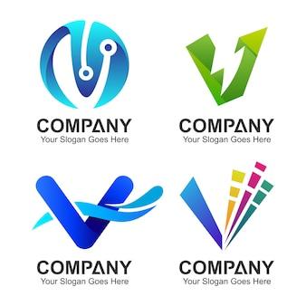 Letter v logo collection