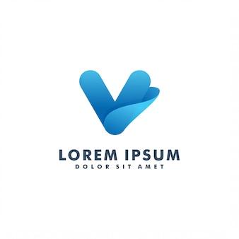 Letter v logo design icon vector
