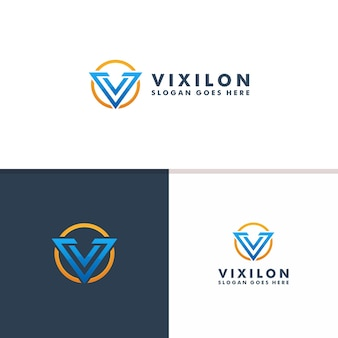 Шаблон логотипа буква v. спорт значок дизайн вектор логотип