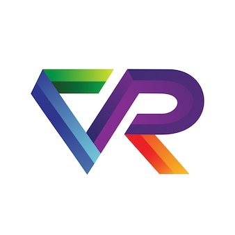 Letter v and r logo design