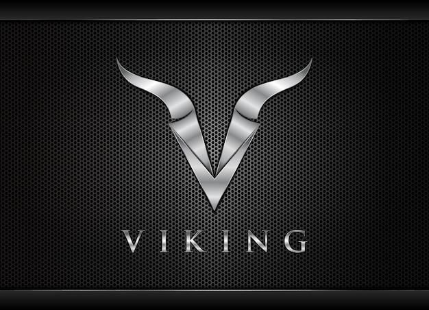Буква v викинг логотип буква v дизайн логотипа