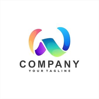 Буква w градиентный дизайн логотипа
