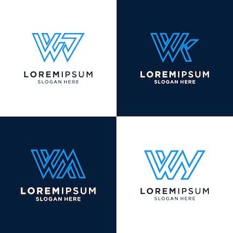 Буква w вдохновляющий логотип для бренда и бизнеса