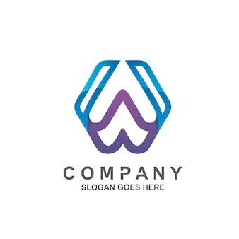 Буква w дизайн логотипа