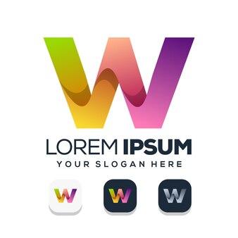文字wのロゴデザイン