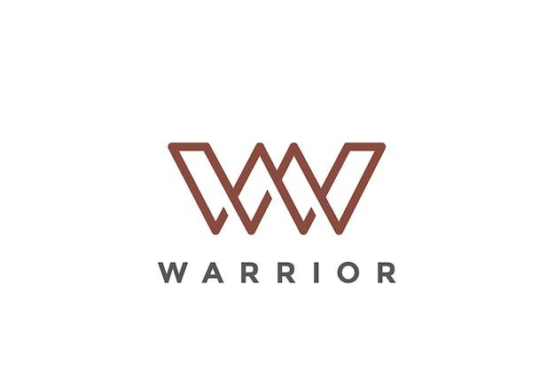 Letter w logo  . linear style