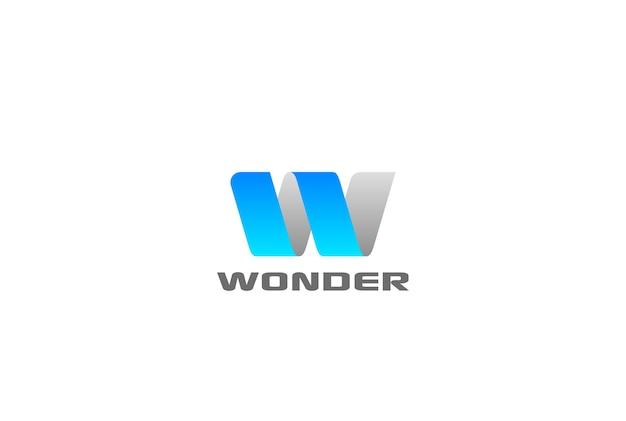 Letter w logo vector icon.