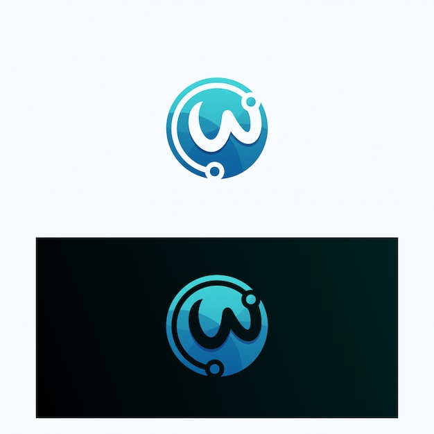 Letter w logotype collection