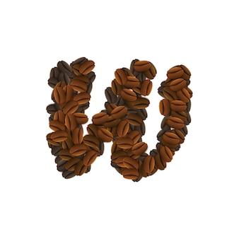 コーヒー粒の文字w