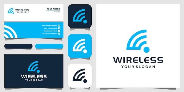文字wワイヤレスロゴアイコンデザインテンプレート要素