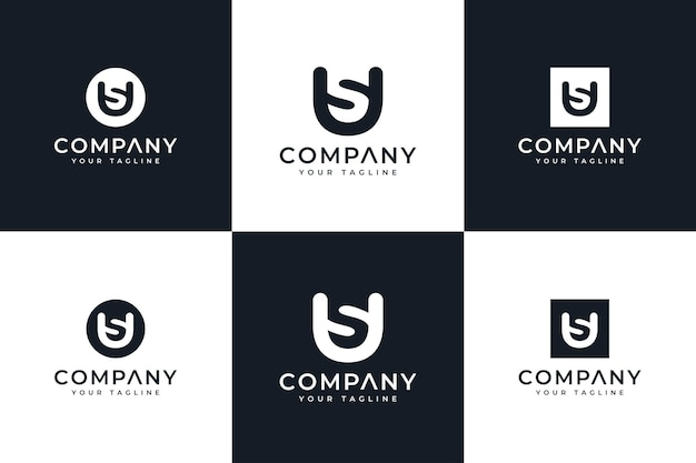 クリエイティブなロゴデザインと名刺テンプレートプレミアムベクトルwhの手紙