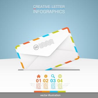 Letter on a white background art. vector illustration