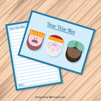 Letter to the wise men in cute style