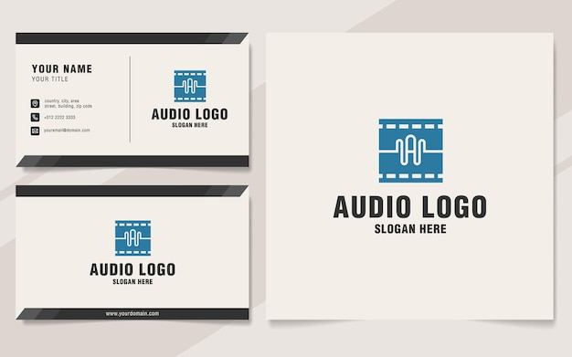 Letter a with audio logo template on monogram style