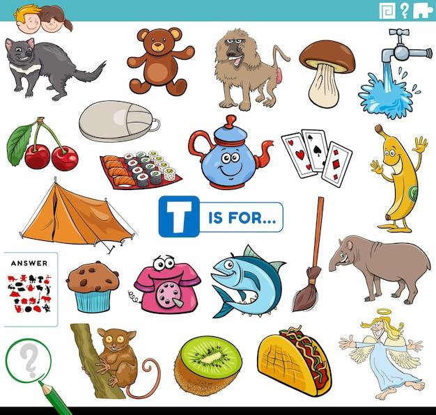 Letter words educational task for children