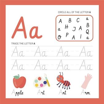 Letter a worksheet template