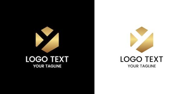 편지 y 로고 디자인 벡터