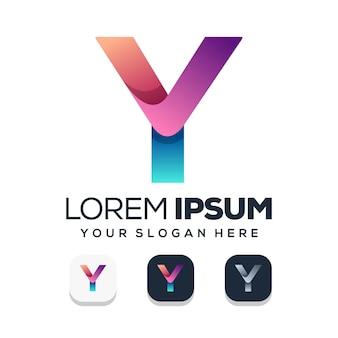 편지 y 로고 디자인