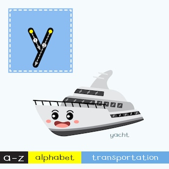 Letter y lowercase tracing transportations vocabulary