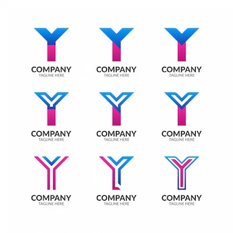 Элегантная коллекция логотипов letter y