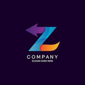Letter z and arrow logo design