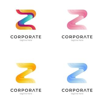 문자 z 다채로운 로고 변형
