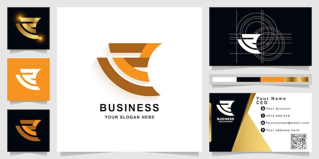 Letter a or z monogram logo template with business card design