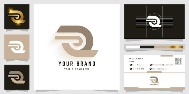 Letter z or a monogram logo with business card design