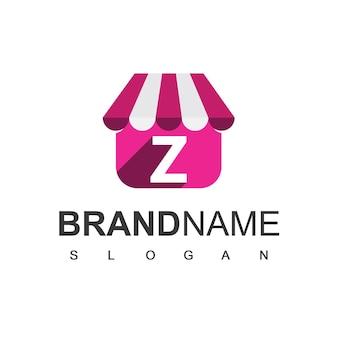 편지 z 상점 로고 디자인 템플릿, 온라인 상점 기호.