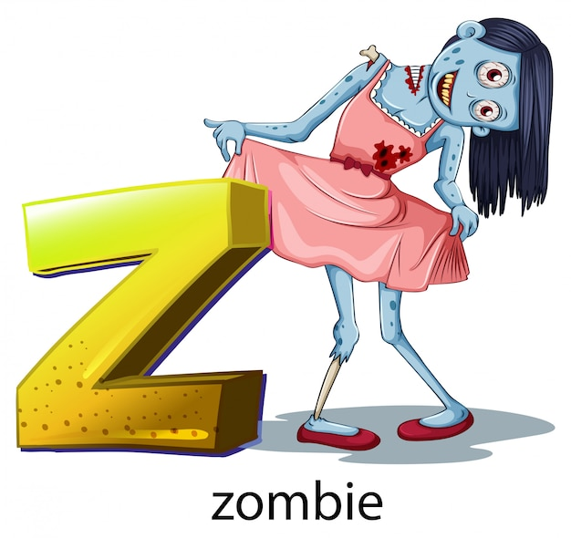 A letter z for zombie
