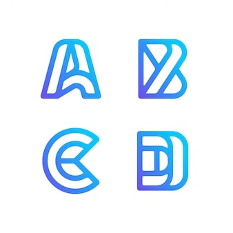 Коллекция логотипов letter