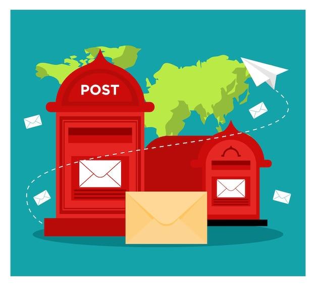 Почтовый ящик и иллюстрации enveloppe