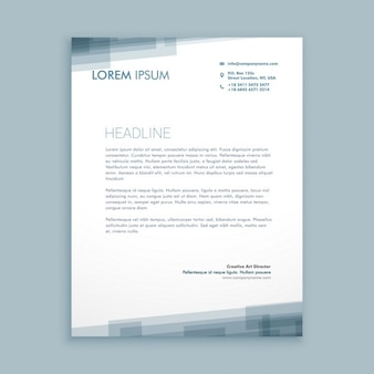 Letterhead abstract design