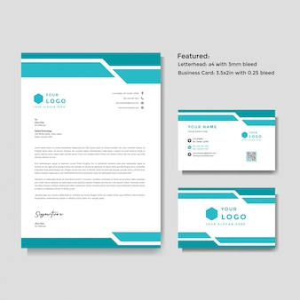 Letterhead and business card template