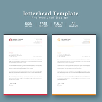 Letterhead business template